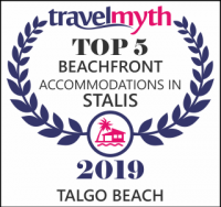 Talgo Suites is on Top 5 Beachfront Accommodations in Stalis